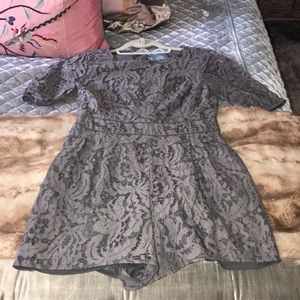 Lace Grey Romper